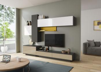 Гостиная стенка в стиле модерн под телевизор