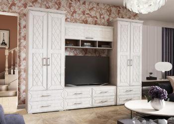 Белая гостиная в стиле прованс