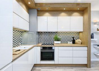 Угловая кухня в скандинавском стиле